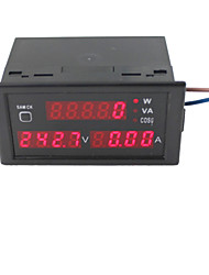 AC80-300V 100A Digital LED Current Voltage Tester Meter Power Factor Detection with CT