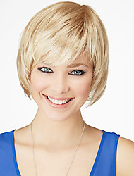 Graceful Trend Short Straight Human Virgin Remy Hand Tied Top Female Capless Wig
