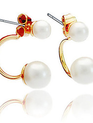 Earring Hoop Earrings Jewelry Women Gold 2pcs Gold / White