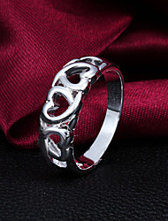"""2015 Fashion Size 8 Heart""""LOVE"""" Sterling Silver Ring  Band Rings For Woman & Lady"""