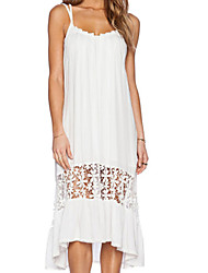 Women's White Midi Jersey Dress