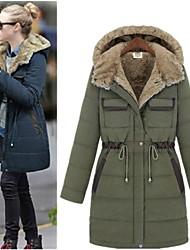 Повседневный - ЖЕНЩИНЫ - Пальто и жакеты ( Смешанная хлопковая ткань V-образный - Длинный рукав