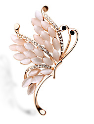 cristal opal broche de mariposa
