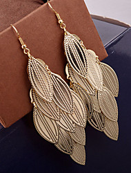 Top Quality European Style Multilayer Leaf Drop Earrings for Wedding Party
