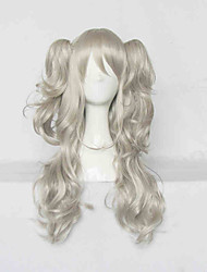 Cosplay Wigs Cosplay Cosplay Brown Medium Anime Cosplay Wigs 60 CM Heat Resistant Fiber Female