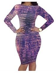 Women's  New Design Printing Sexy Bandage Dress