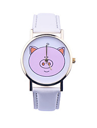 Piggy Face Watch , Farm Pets, Vintage Leather Watch, Women Watches, Unisex Watch, Men's Watch, Ladies Watch Cool Watches Unique Watches