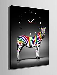 Rectangulaire Moderne/Contemporain Horloge murale , Autres Toile35 x 50cm(14inchx20inch)x1pcs/ 40 x 60cm(16inchx24inch)x1pcs/ 50 x