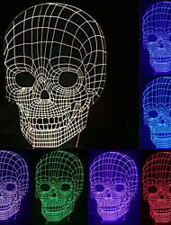 visuelle 3D-Schädelmodell Stimmung Atmosphäre LED Dekoration usb Akku Tischlampe bunte Geschenknachtlicht