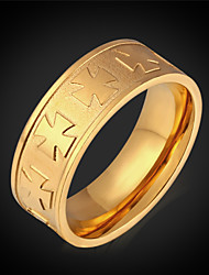 Vogue New Ring for Men 8K Real Gold  Plated New Fashion Jewelry Maltese Cross Rings Stainless Steel High Quality Men's