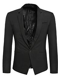 jisney Men's Casual/Work/Formal Pure Long Sleeve Regular Blazer (Cotton)Stitching tide male suit
