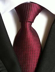 Men Wedding Cocktail Necktie At Work Big Red