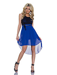 Girls Night Women's Color Block Blue / Red / White / Green / Yellow Dresses , Sexy / Casual / Party Mid Rise Sleeveless