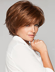 couleur brun synthétique perruques de cheveux courte de qualité supérieure de qualité