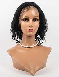 12 дюймов спереди кружева волосы парики 100% фронта шнурка человеческих волос волнистые человеческие волосы монгольские волосы