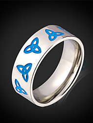 Vogue 316L Stainless Steel Ring For Men Jewelry With Gift Box New 2015 Fashion Jewelry Blue Viking Men's Rings Trinity