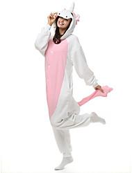 Kigurumi Pijamas Unicórnio Malha Collant/Pijama Macacão Festival/Celebração Pijamas Animal Laranja Miscelânea Lã Polar Kigurumi Para