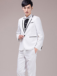 Men's Suits for Performances Presided Over  Wedding  Party Important Occasions  White Suit Set 4490