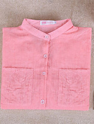 Summer Womens Casual wild Cozy Cotton Linen loose blouse Button Down Shirt 7 Colors Tops