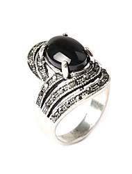 Ring Fashion Party Jewelry Resin / Silver Plated Statement Rings 1pc,One Size Gold