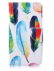 For Samsung Galaxy Note Card Holder / Wallet / with Stand / Flip Case Full Body Case Feathers PU Leather Samsung Note 5 / Note 4 / Note 3