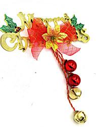 Letter card bell hanging ornament, color random
