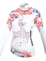 ilpaladinoSport Women Long sleeve Cycling Jersey New Style    CX601  White Reindeer  100% Polyester