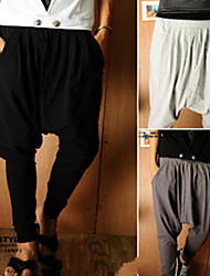 Pantalones ( Algodón )- Casual / Trabajo Tiro Medio Pantalones Harén para Hombre