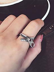 Anéis Diário / Casual Jóias Liga Feminino Anéis Grossos 1pç,8 Prateado