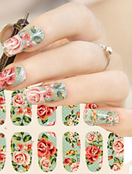 1pcs Small Fresh Floral Flowers Nail Stickers