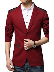 Men's Fashion Casual Splice Two Button Slim Suit