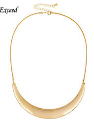 D exceed Hot Sale Chunky Necklace Gold Plating Punk Style Choker Necklace Jewelry Collier Necklaces For Women