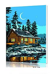 DIY digitales Ölgemälde Frame Familie Spaß Malerei alle von mir Mondn x5047