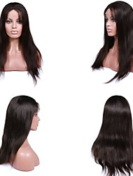 Premierwigs 8A 8''-26'' Natural Straight Brazilian Virgin Glueless Full Lace Human Hair Wigs Glueless Lace Front Wigs