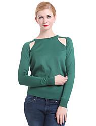 Frauen Casual / Arbeit Langarm Pullover, Strickwaren Medium