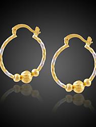 TAKA Women's 18K Gold Plated Fashion Circle Earrings