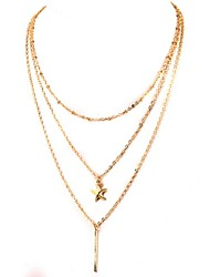 Wholesale Women Necklace European Style Sea Star Layered Chain Necklace