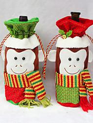 2015 l'arrivée de nouveaux Décoration de Noël fournitures vin rouge couverture de bouteille sacs décoration partie Père Noël