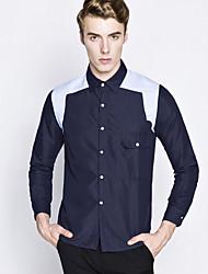 MEN - Camicie casual - Informale Quadrato - Maniche lunghe Cotone
