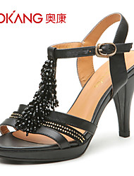 sandálias de couro das mulheres aokang® - 132811409