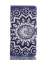 For LG Case Card Holder / Wallet / with Stand / Flip Case Full Body Case Mandala Hard PU Leather LG