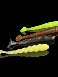 10pcs Fishing Lure Swimbaits 7cm/1.8g Soft Bait Worm 10pcs/pack (Random Color)