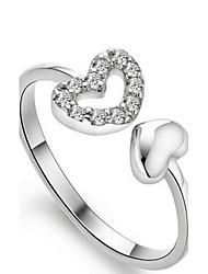 Женский Классические кольца Сердце Регулируется бижутерия Стерлинговое серебро Бижутерия Назначение Свадьба Для вечеринок Повседневные
