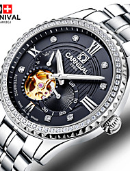 Carnival® of the Swiss watch men automatic mechanical watch stainless steel hollow Fashion Business Watch Cool Watch Unique Watch