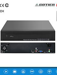 cotier®4ch 1,5U 2HDD porto / 960p / hd / p2p nuvola / NVR N4 / 1,5 U-2h