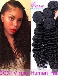 7а Малайзии девственные волосы глубокая волна 3 шт Малайзии глубоко вьющиеся волосы ткать человек связывает Малайзии волосы