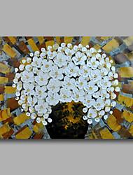 Ручная роспись Абстракция / Цветочные мотивы/ботаническийModern 1 панель Холст Hang-роспись маслом For Украшение дома