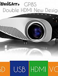 vivibright® novas gp8s melhor preço hdmi vga sd liderada mini-projetor portátil