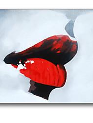 iarts®sexy красные губы сексуальные женщины стены искусства моды маслом