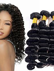 prodotti per i capelli evet onda brasiliana profonda capelli vergini 100% non trattati vergine brasiliana dei capelli 1pc 100g shippping